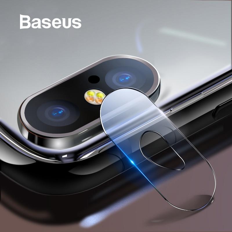 7948d7f44 Baseus 0,15mm de vidrio templado Protector de lente para iPhone X Cámara  Len de la película por vidrio iPhoneX volver lente película de protección 9  H de ...