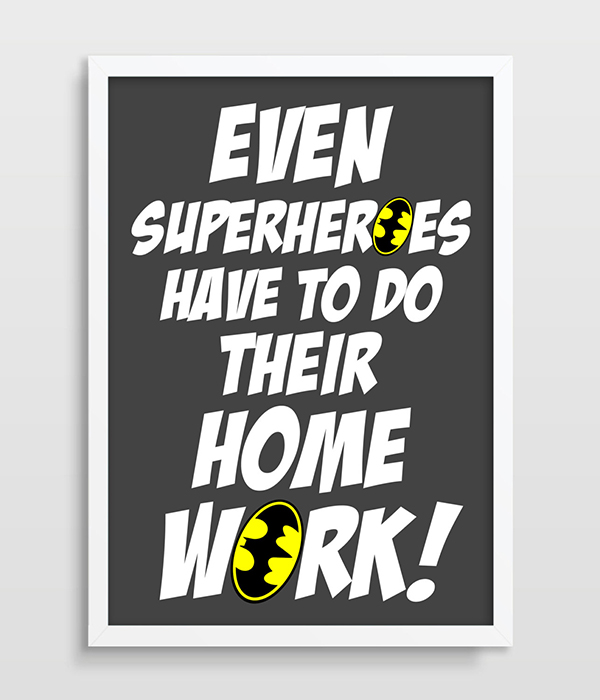 Batman Kids Wall Decor Superhero Wall Art Kids Poster Kids Art Print  Superhero Art Print Bedroom