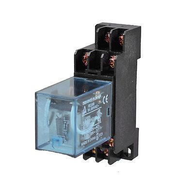 Подробнее о IEC256 DC 24V 2NO 2NC DPDT 8 Pins Coil Power Relay w DYF08A Socket Base free shipping dc 12v coil electromagnetic relay 8 pins dpdt 2 no 2 nc jqx 10f 2z