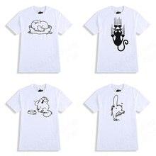 YUANQISHUN Funny Simon Cat Printed T Shirt High Quality Casual T-shirt 100% Cotton Men Women Novelty Tops Harajuku Tees Tshirt