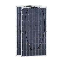 Boguang 2 шт. 100 Вт Панели солнечные полу гибкие 200 Вт солнечной системы фотоэлектрических Панели солнечные 12 В аккумулятор/яхты/ RV/car/лодка