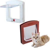 white-frame-4-way-locking-lockable-magnetic-pet-cat-small-dog-flap-glass-door