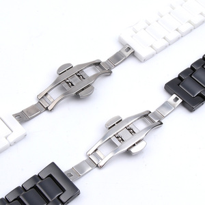 Image 3 - 12/14/16/18/20/22mm Shine for Samsung Gear S2/S3 Watchband Quality Ceramic Watch Strap Luxury Metal Bracelet for Huawei Watch 2