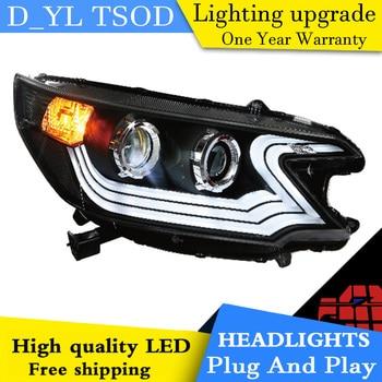Car Styling For Honda C-RV headlights 2012-2013 C-RV led Car Goods Head Lamp led drl projector headlight H7 hid Bi-Xenon Lens