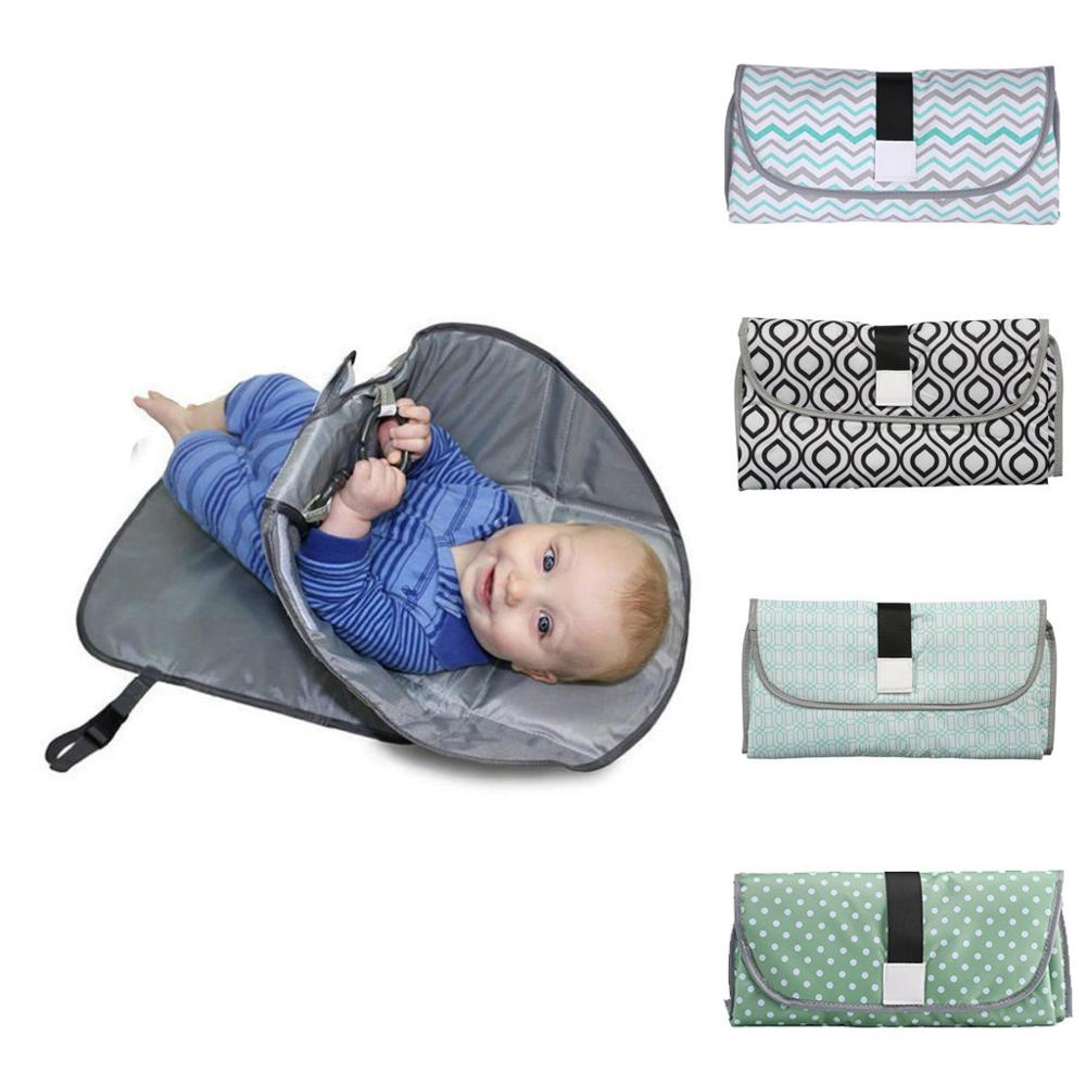 Newborns Foldable Waterproof Baby Diaper Changing Mat Portable Changing Pad