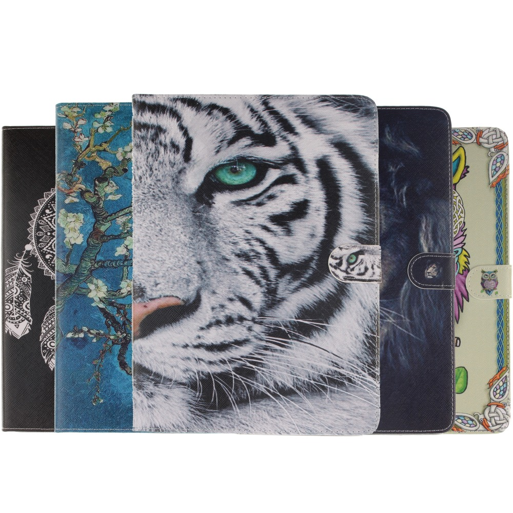 Flip Leather coque Case For Apple iPad Air 2 Case Tiger Cover for iPad Air2 air 2 case cover Capa for ipad air 2 case fundas for apple ipad air case flip stand cover pu leather leopard series rotate protective tablet cover coque funda capa