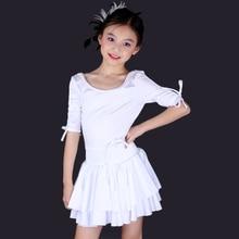 Dance Clothes Pink/Black/Blue/White/Yellow Ballroom Dresses Girls S-XXL Children Latin Dance Dresses Saia Social Free Shipping