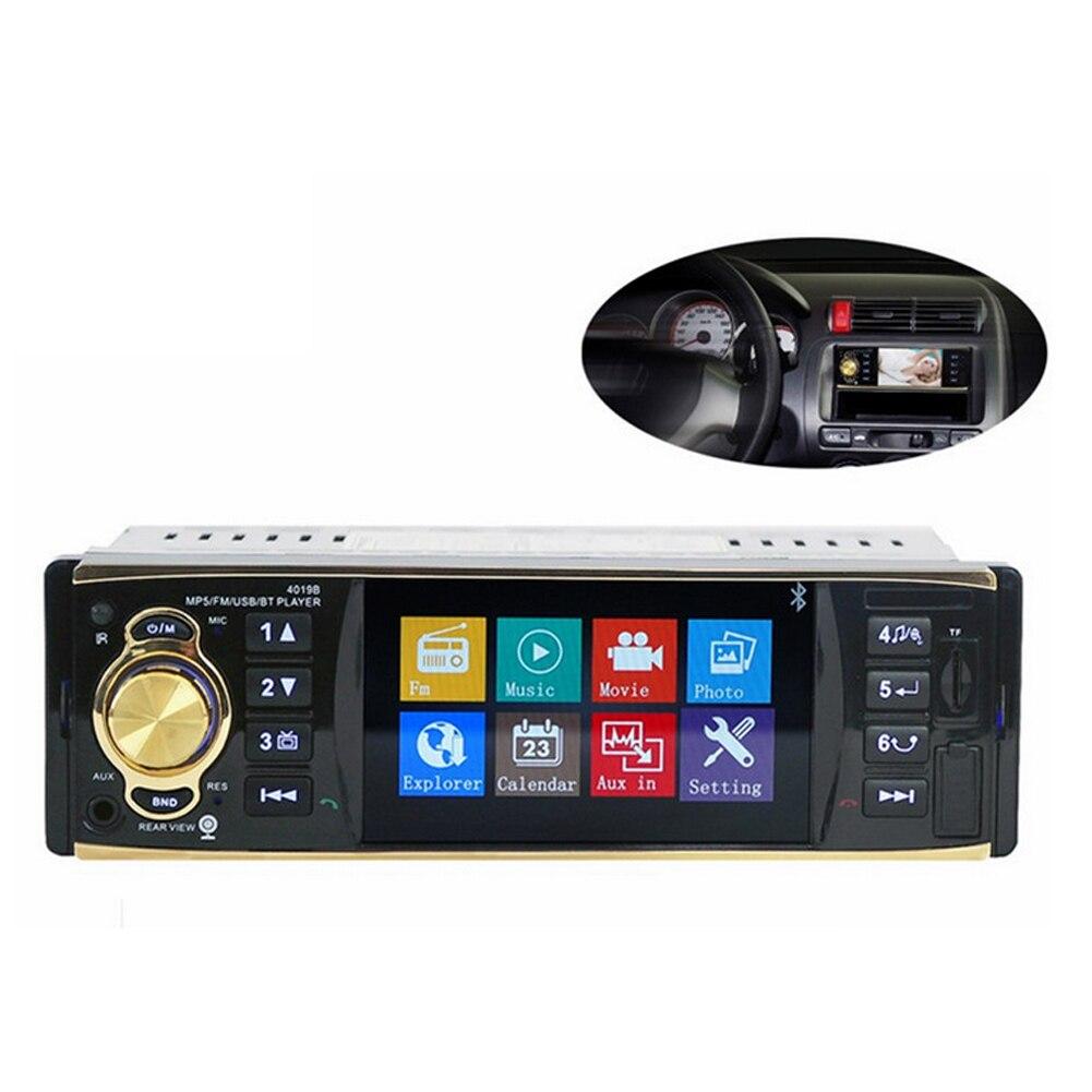 1 autoradio 4.1 pouces lecteur stéréo MP3 MP5 lecteur Audio de voiture Bluetooth volant télécommande USB AUX FM