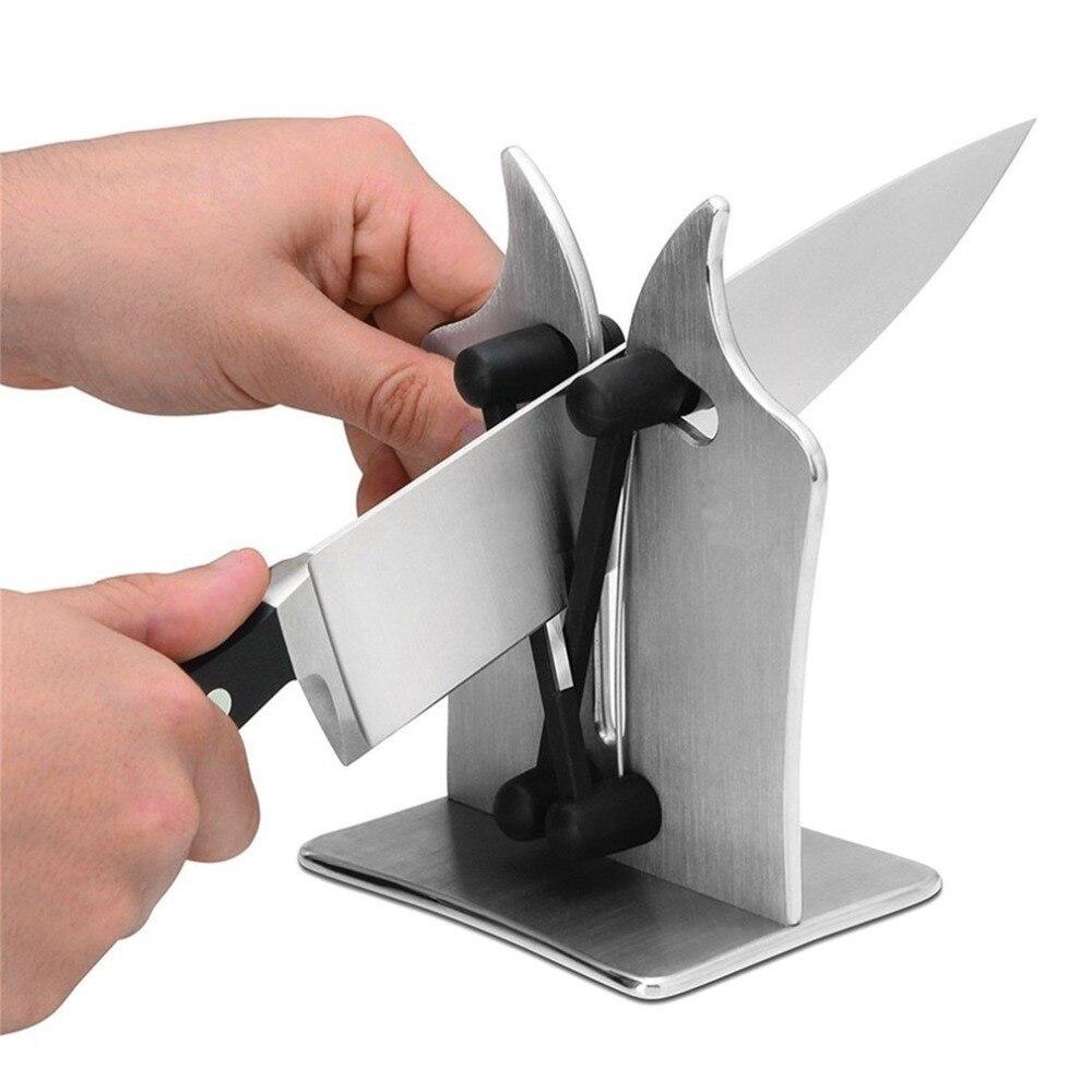 Нержавеющаясталь Кухня Ножи точилка обостряет оттачивает и польский Бытовая Ножи точилка практические заточки инструменты для дома