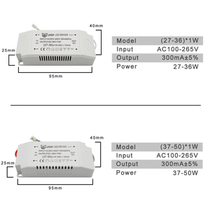 Image 5 - 220V LED Driver Constant Current 300mA 240mA Output 1 50W Power Supply External Lighting Transformer For LED Ceiling Light