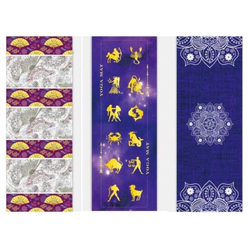✔  Печатный Коврик для Йоги 5 мм Натуральный Каучук Удобные Замшевые Ткани Нескользящие Упражнения Йога ①