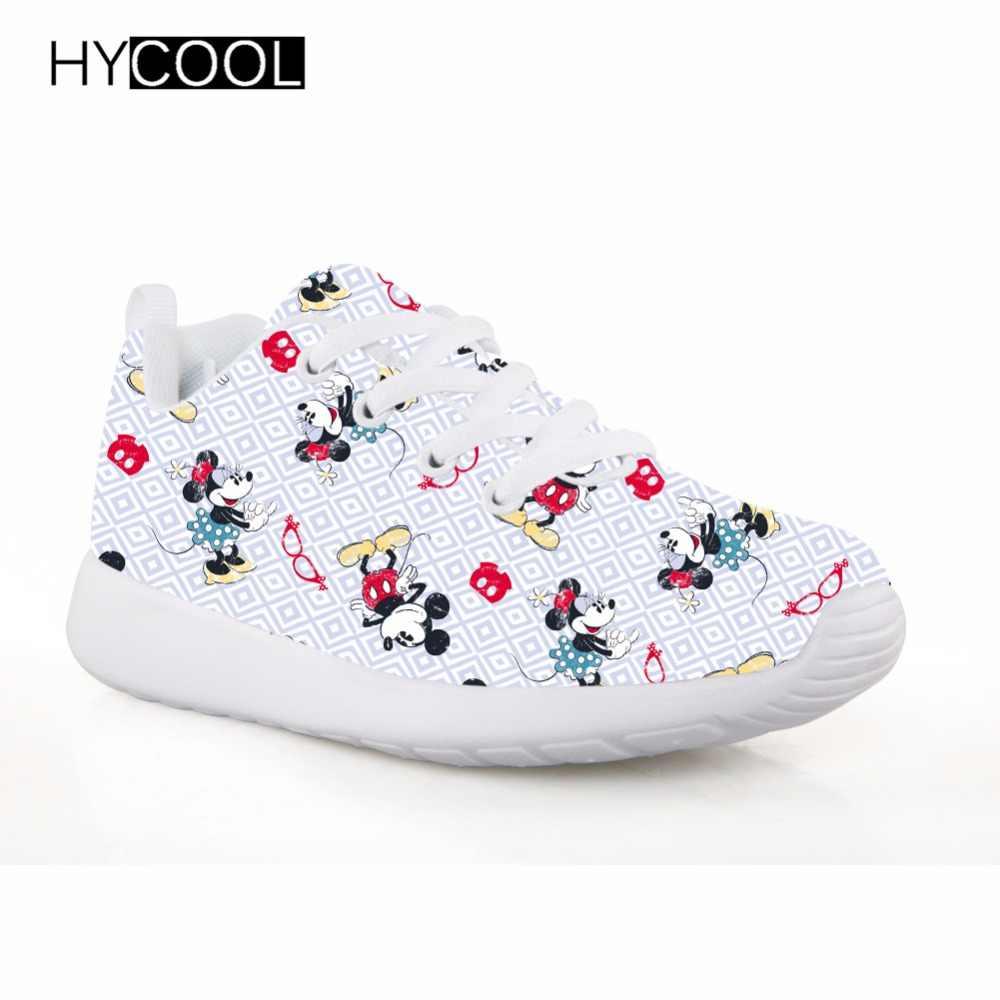 HYCOOL niñas deportes zapatos de ratón de dibujos animados patrón de chico  zapatillas de deporte de 33e73bbd3fc3d