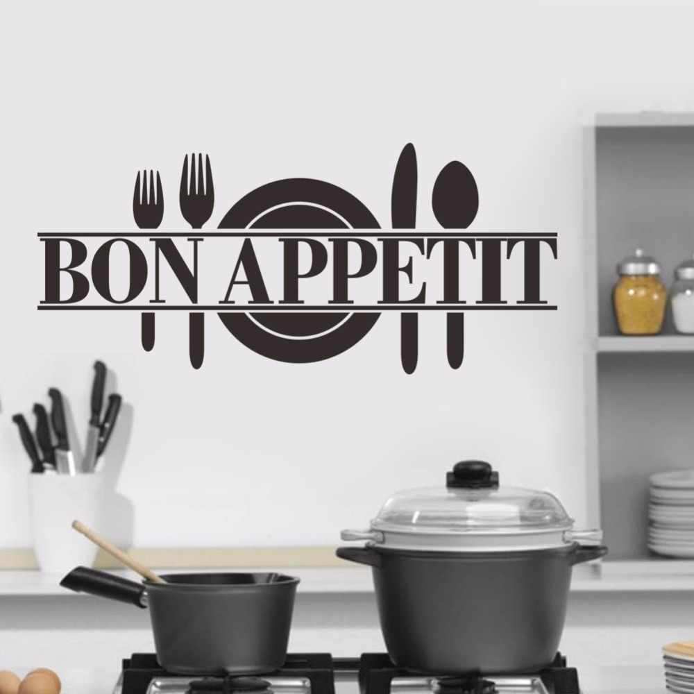 Waterproef Restaurant Bon Appetit Simple Carved 3d Wallpaper Kitchen Restaurant Wall Stickers Home Decoration Self Adhesive Waterproof Murals