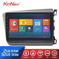 Kirinavi 10.2 Car Radio for Honda Civic HD Touch screen android automobile audio 2 Din dvd player multimedia system Bluetooth