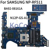 KoCoQin Laptop motherboard For SAMSUNG NP RF511 RF411 GT540M 1GB Mainboard BA41 01473A BA92 08161A N12P GS A1 HM65