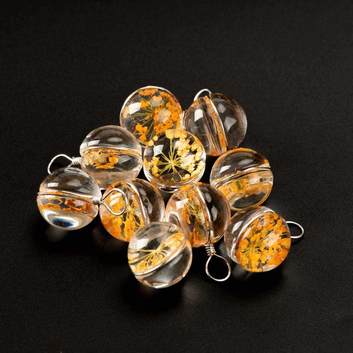 12 # Filo di Ferro Naturale Fiore Secco con Il Non di Vetro Fai da Te Perline Pietra Naturale Braccialetto Choker Monili Che Fanno Perline # IZ131