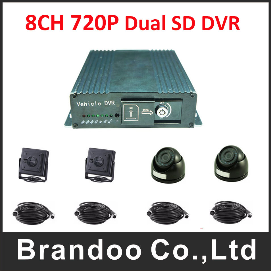 720P AHD 8CH MDVR CAR DVR kit+4pcs AHD camera +1pcs HDMI 7.0inch monitor,for vehicle,truck bus use