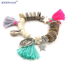 Новые браслеты в богемном стиле бохо для женщин пляжные с разноцветными