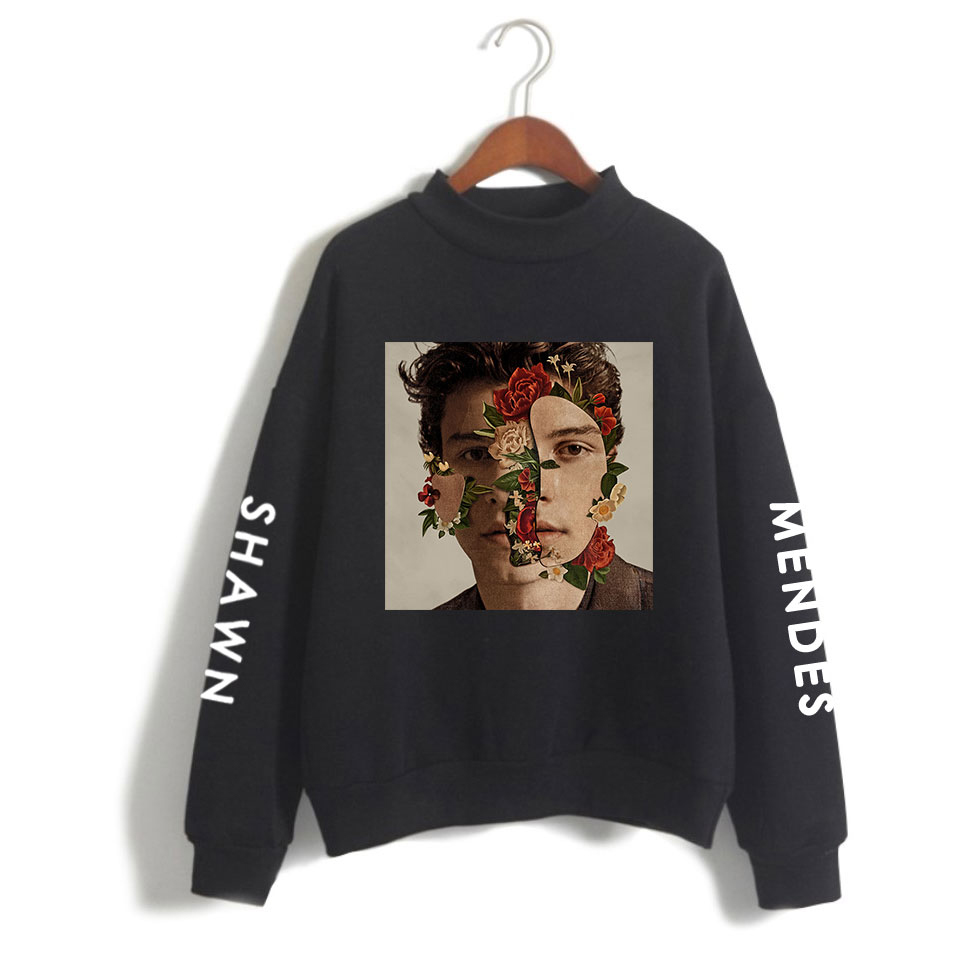 LUCKYFRIDAYF Women And/Men Clothes 2018 Capless Shawn Mendes Turtlenecks Long Sleeve Kawaii Sweatshirts Casual Harajuku PlusSize-in Hoodies & Sweatshirts from Women's Clothing on Aliexpress.com | Alibaba Group