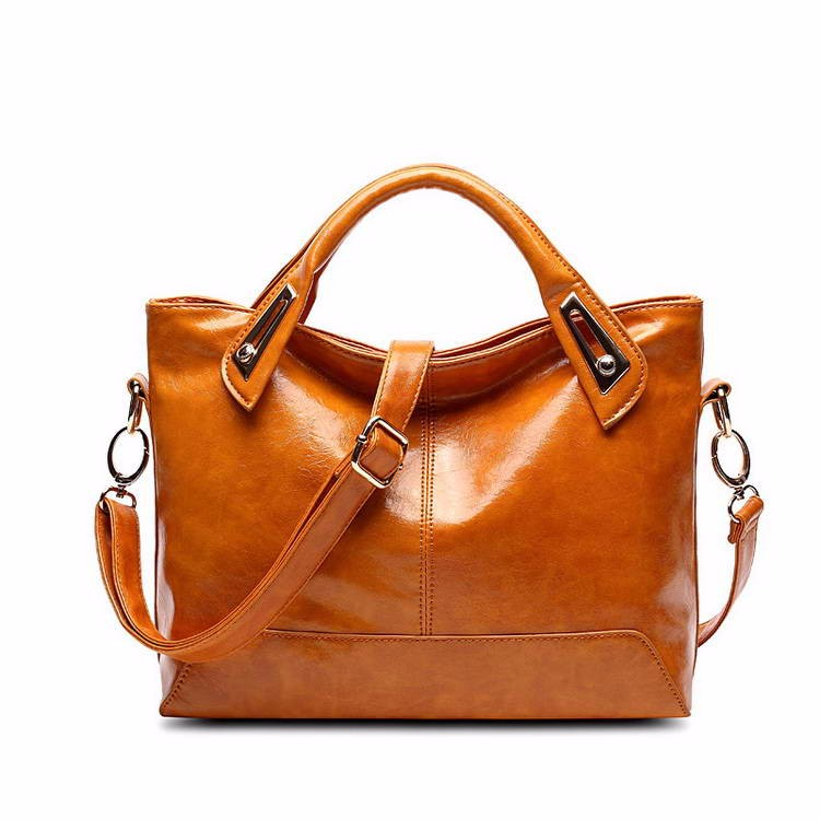 Women Oil Wax Leather Designer Handbags High Quality Shoulder Bags Ladies Handbags Fashion brand PU leather women bags WLHB1398 8