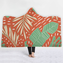 Green Leaves Orange red Blankets hats soft best selling Relaxed comfortable twin full size great demand blanket sell well