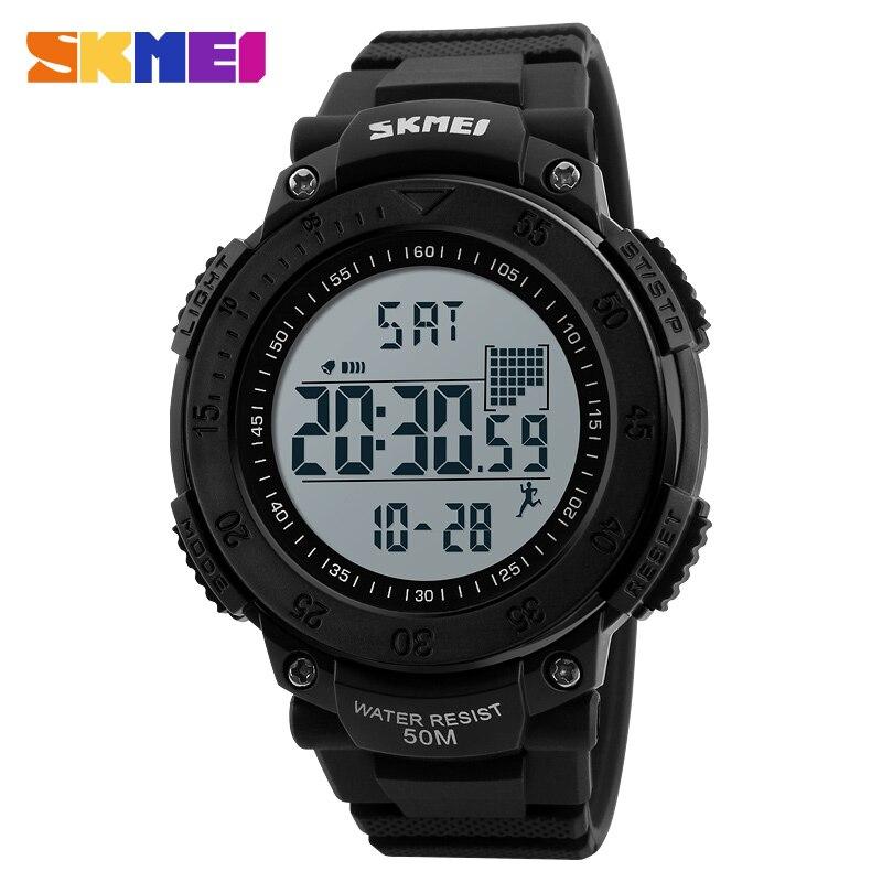 SKMEI Марка цифровые часы мужские шагомер 3D многофункциональные спортивные часы Relojes наручные часы Водонепроницаемый Relogio Masculino 1238