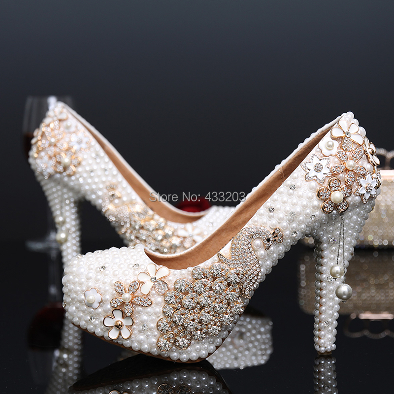 wedding shoes high heels bling beaded bridal crystal shoes women s