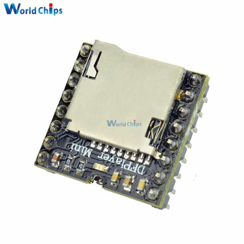 DFPlayer Mini lecteur MP3 DF carte Module MP3 Audio carte de décodage vocal pour Arduino prenant en charge la carte TF u-disk IO/Port série/AD