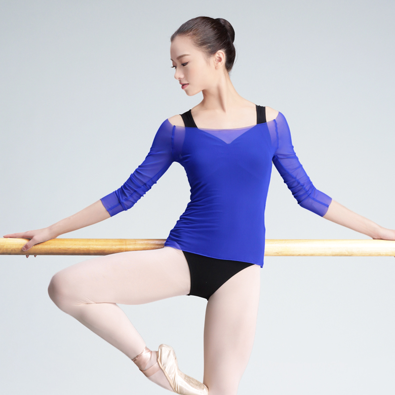 Transparent Adult Women Ballet Leotard Coat Mesh Dance Clothing Strong Stretch Gymnastics Leotard Clothes For Dancing