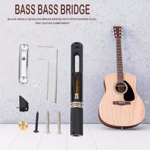 جيتار باس سلسلة الوتد ويندر جسر دبوس بولير الغيتار إصلاح 5 سلاسل النيكل الأسود واحد مقطوعة الرأس باس جسر مجموعة 2020