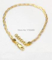 Solid AU750 Gold Bracelet Snake Bracelet 2.76g