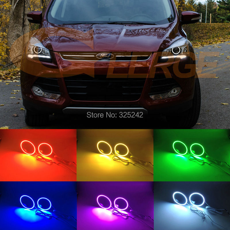 For Ford Escape kuga 2013 2014 2015 XENON HEADLIGHT Excellent Multi-Color Ultra bright RGB LED Angel Eyes kit Halo Ring платье велюровое мириам синее
