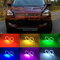 Voor Ford Escape kuga 2013 2014 2015 XENON KOPLAMP Uitstekende Multi-color Ultra heldere RGB LED Angel Eyes kit Halo Ring