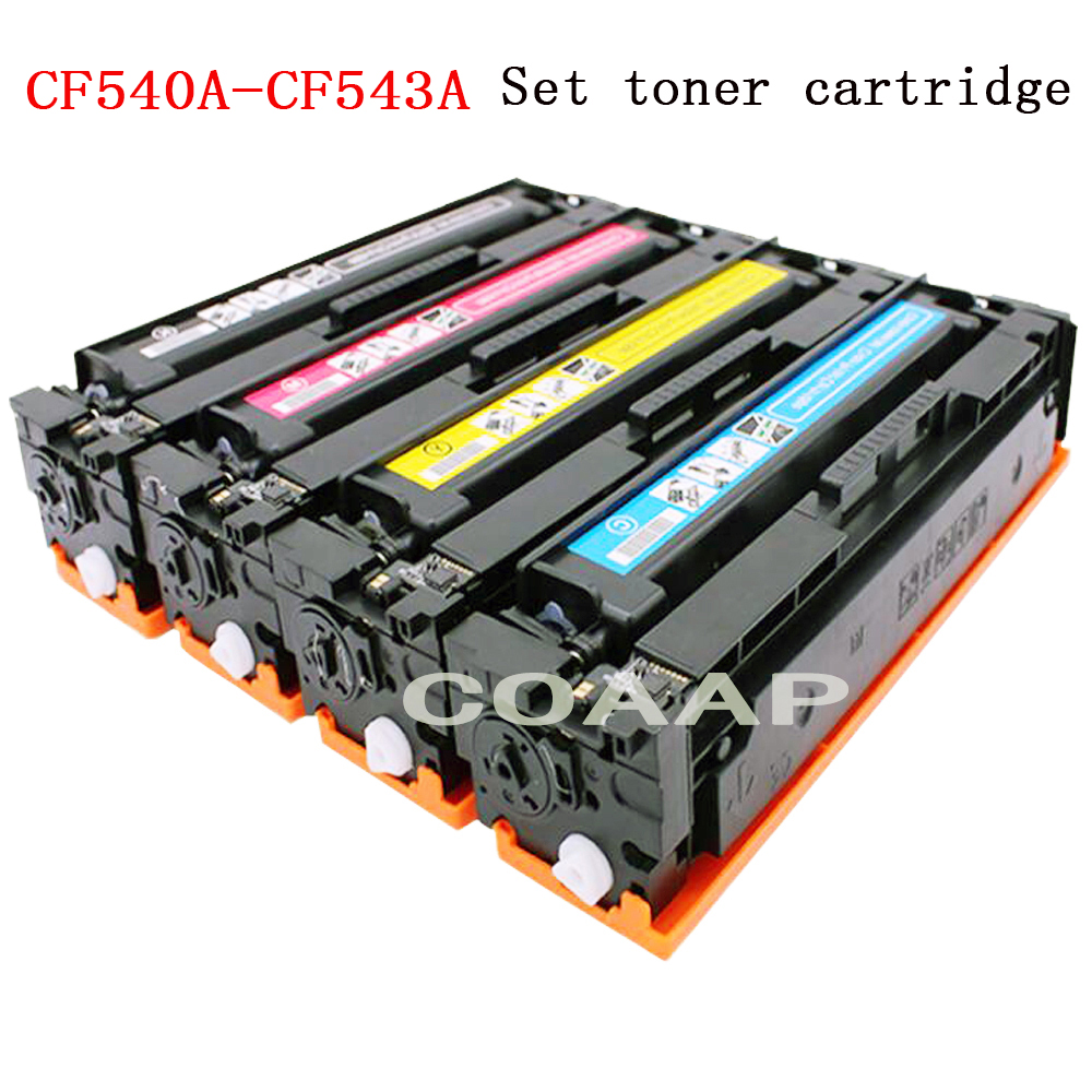 COAAP CF540A 203A Compatible Toner Cartridge for HP Color LaserJet Pro M254dw 254nw MFP M281cdw 281fdw 280nw (with Chip)COAAP CF540A 203A Compatible Toner Cartridge for HP Color LaserJet Pro M254dw 254nw MFP M281cdw 281fdw 280nw (with Chip)