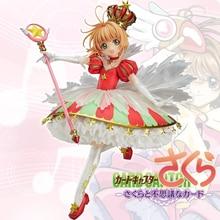 Anime japonês cartão captor sakura 15 anos aniversário kinomoto sakura coroa 1/7 escala figura de ação boneca brinquedo presente chn ver. Nova