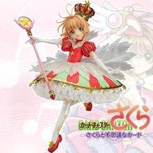 Dessin animé japonais Captor Sakura 15 ans anniversaire Kinomoto Sakura couronne 1/7 échelle Action figurine poupée jouet cadeau CHN VER. Nouveau