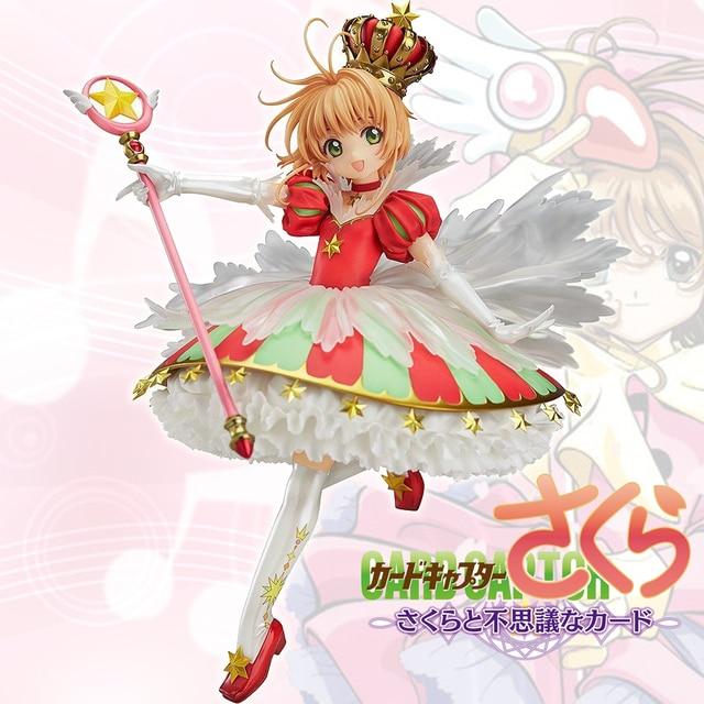 Japanese Anime Card Captor Sakura 15 YEARS Anniversary Kinomoto Sakura Crown 1/7 Scale Action Figure Doll Toy Gift CHN VER. New