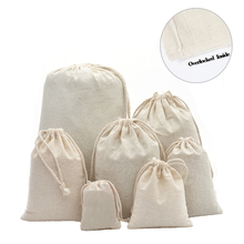 50pcs Double Drawstring Calico Cotton Muslin Gift Bags for Herb Tea Wedding Party Favor Pouch Jewelry Packaging Bag Wholesale цены