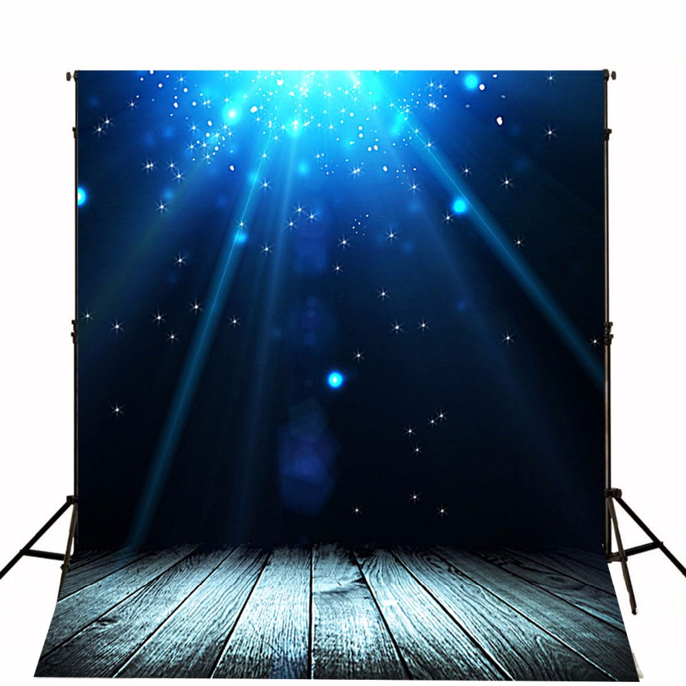 5x7 Photography Background Under the Sea Bright Star Lighting with Grey Wood Floor Backdrops Kids Photo Booth Props fotografia