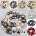 "Wholesale 8-16mm Beautiful Shell Pearl Gradually Round Loose Beads 18"" ,For Jewelry making, can mixed wholesale!"