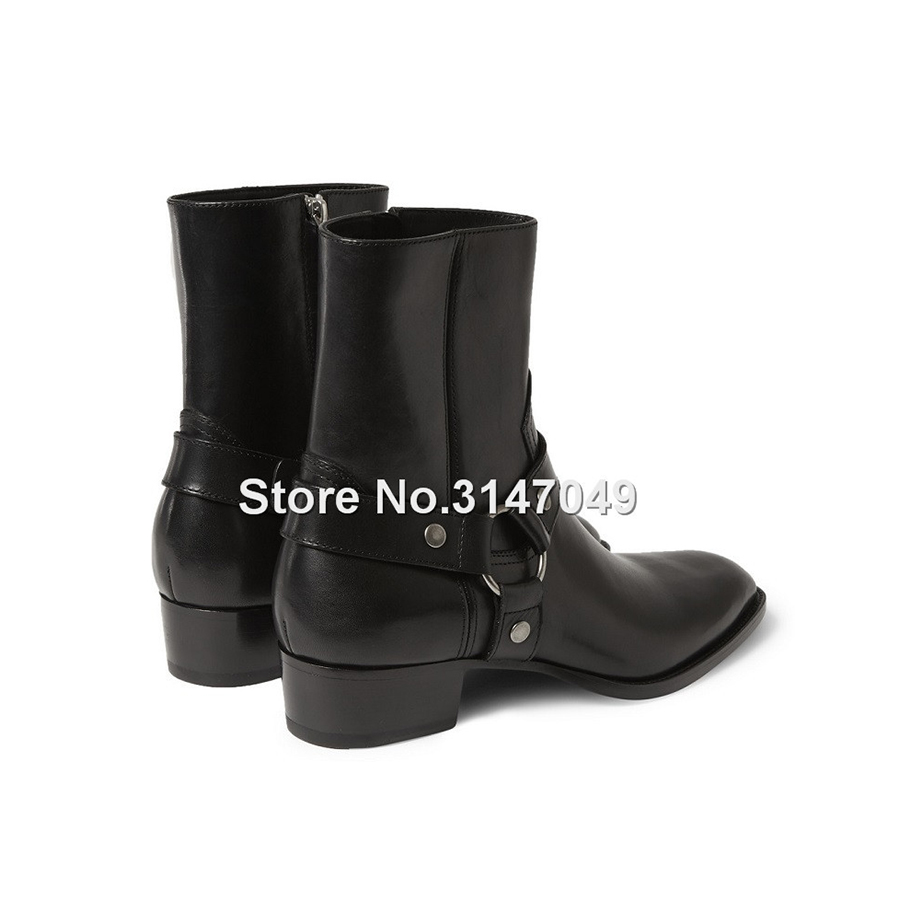 2703fe64f6 OKHOTCN Vintage Men Chelsea Boots Genuine Leather Suede Rome Style Man  Ankle Boots Zipper Male Casual Buckle Shoes Sapato Botas