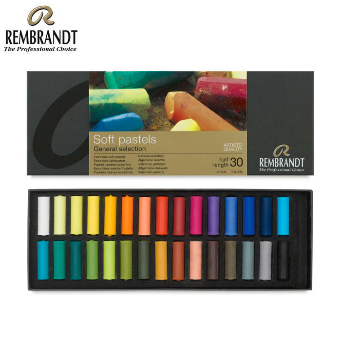 Rembrandt pastels by the piece - Holland Rembrandt 30 colors soft half color chalk pastels Soft pastels General selection  artits quality master specialty paint