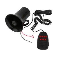 12V 50W Black 7 Sounds Tone Horn Loud Alarm Motorcycle Car Loudspeaker Alarm Siren Speaker Alarm For Car Van Truck
