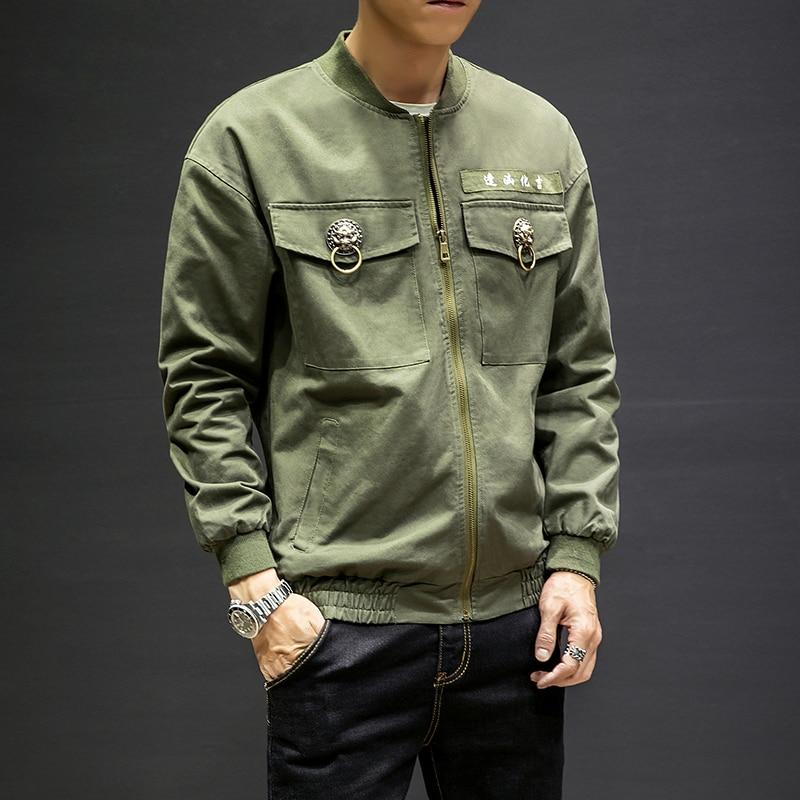 Streetwear Lâche Noir Casual Taille Style Chinois Manteau 5xl Serrure Hip  Mâle Survêtement Veste Green Mode ... c443eede8e56