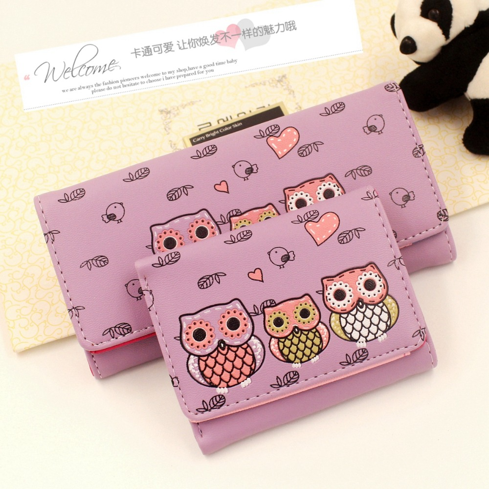 New cartoon ladies wallet women PU leather purse wallet Female kids Hasp clutch wallet coin purse card holder Carteira bags 20# j bg pink new 2017 women cute cat cartoon wallet long creative card holder casual ladies clutch pu leather coin purse