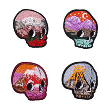 Beautiful head colorful 4 Badge Repair Patch Embroidered Iron On Patches For Clothing Close Shoes Bags Badges Embroidery