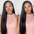 8A Cabelo Humano Full Lace Wigs Para As Mulheres Negras Sem Cola Completo Perucas Cheias do laço do Cabelo Virgem Chinês Reta Dianteira Do Laço Perucas de Cabelo Humano