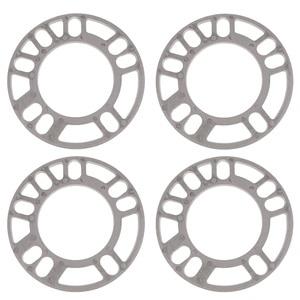 Image 2 - 4 Pcs 5mm Car Wheel Spacer Shims Plate 4 5 STUD Universal For Auto 4x100 4x114.3 5x100 5x108 5x114.3 5x120 Etc Car Accessories