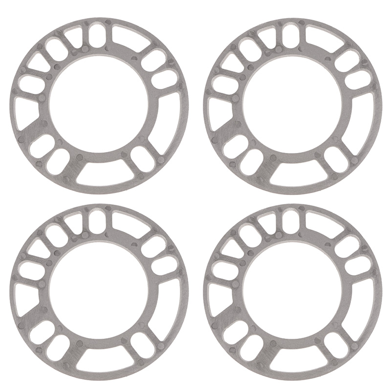 Image 2 - 4 Pcs Universal Alloy Aluminum Wheel Spacer Shims Plate 5mm Thickness For Car Silver Auto Accessories-in Tire Accessories from Automobiles & Motorcycles