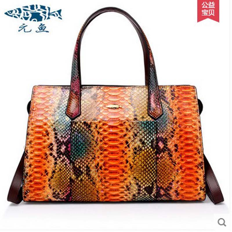 yuanyu Python leather handbags leisure bag american fashion female bag oblique satchel snake leather bag motorcycle women bag yuanyu 2018 new hot free shipping real python leather women clutch women hand caught bag women bag long snake women day clutches